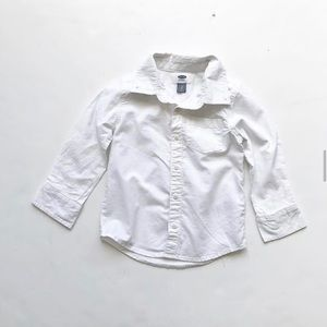 Old navy white button down shirt VGUC 3T